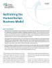 """Cover of """"Rethinking the Humanitarian Business Model"""""""