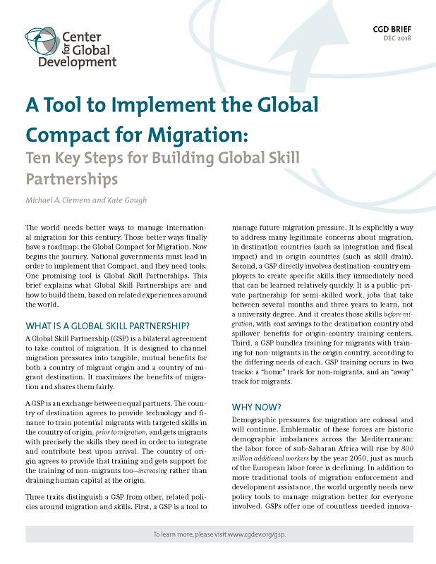 A Tool to Implement the Global Compact for Migration: Ten